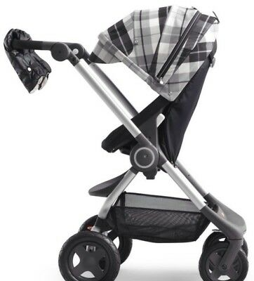 Stokke Scoot Winter Kit  Flannel Grey With Mittens And Clear Tote Bag Brand New.