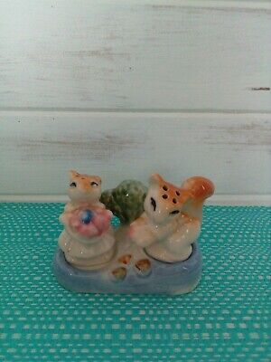 Squirrels on stand Salt And Pepper Shakers.