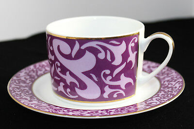 Michael Weems Cup & Saucer**Elise pattern*Purple**New