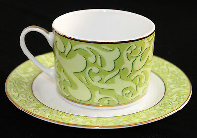 Michael Weems Cup & Saucer**Elise pattern*Green*New