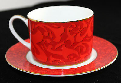 Michael Weems Cup & Saucer**Elise pattern*Red**New