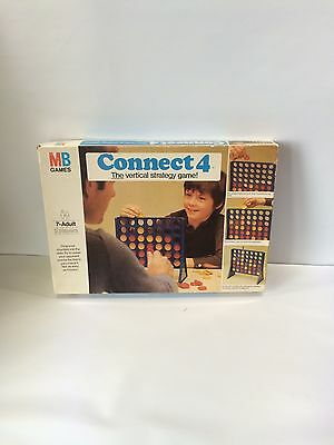 Connect 4 Board Game Mb Vintage Edition 1976 The Vertical Four In A Row Strategy