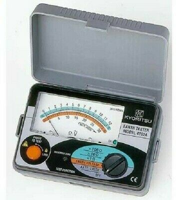 Kyoritsu ANALOGUE EARTH TESTER KYO4102A-H Dust & Drip Proof, Hard Case