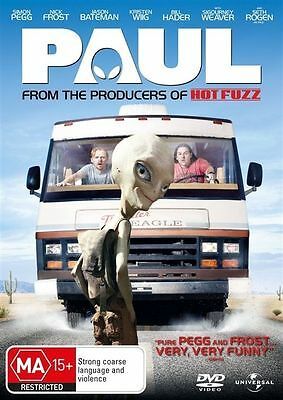 Paul (DVD, 2011) 2 English Comic Book Geeks Travel Across The U.S. And Find Paul