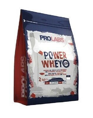 Prolabs Power Whey Ultra 2Kg Cioccolato Proteine Del Siero Di Latte Con Creatina