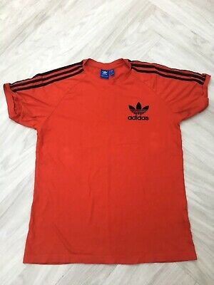 adidas mens originals california tee t-shirt red new bk7544 uk size large
