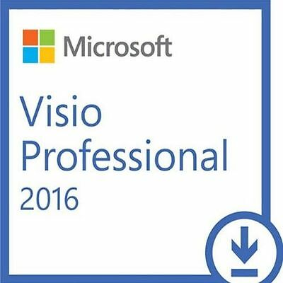 Microsoft Visio Professional 2016 32/64 Bit Vl - Download - Originale Fattura