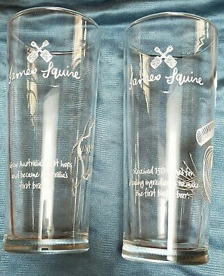 JAMES SQUIRE 150 LASHES BEER GLASSES 425mls x 2