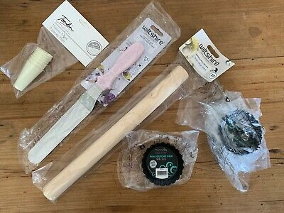Baking Supplies, mini quiche, rolling pin, angled palette knife, thermo tubes