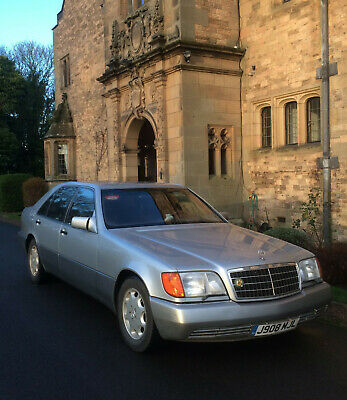 Mercedes 600 V12 79000 miles silver, burgundy leather, collectable, LHD