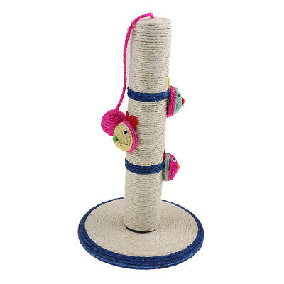 Cat Pet Scratch Post Scratching Tree Scratcher Sisal Rope Ball Chewing Toy