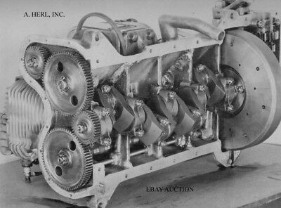 Indian factory '4' 402 engine crank distribution gear 1929 motorcycle photo