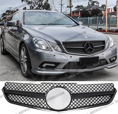 Mercedes E class coupe/convertible w207/c207,2009-13,AMG look Grill,MATTE BLACK