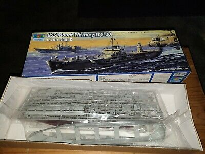 trumpeter 1/700 05718 uss mount whitney lcc-20 model ship kit contents sealed