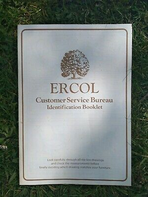 Ercol Identification Booklet and Posters. Also webbing ID info