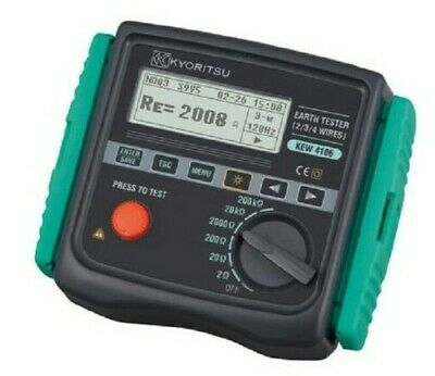 Kyoritsu EARTH RESISTANCE & RESISTIVITY TESTER KYO4106 4-Wire, Graphic Display