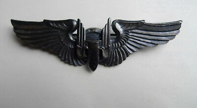 Ww2 Usaf Brevet Us Airforce Gunner Badge Mitrailleur Sterling Materiel Original