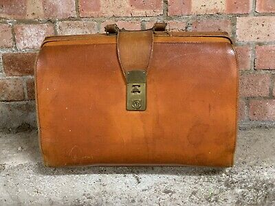 Vintage Leather Briefcase Or Doctors Style Bag