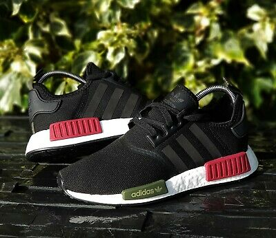 c1a58fee2e581 BNWB   Authentic Adidas Originals ® NMD R1 Black   Burgundy Trainers UK ...