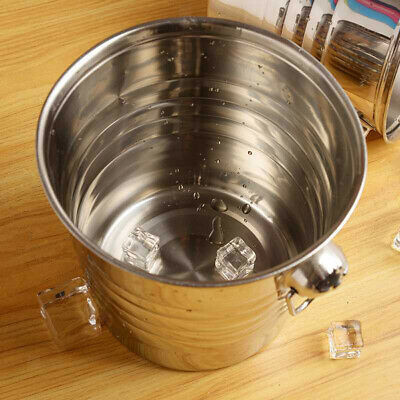 Stainless Steel Ice Bucket Wine Cooler with Lid Perfect for Bar Party Gathering and Home Use #1 D DOLITY Champagne Bucket