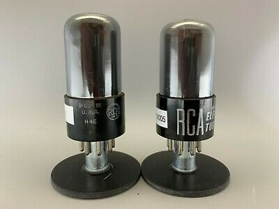 """RCA 6SN7GT """"Gray Glass"""" Tubes **PLATINUM MATCHED on AT1000**GM=2.3%**EM=2.5%**"""