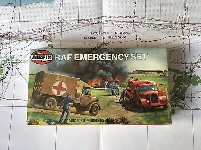 Airfix OO Scale Model Kit RAF Emergency Set Unmade & SEALED in Type 6 Box