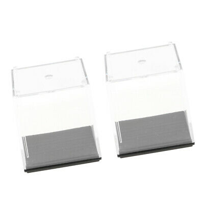 """2x Acrylic Show Case with Black Base Model Protection Box 1.97""""x1.97""""x1.97"""""""