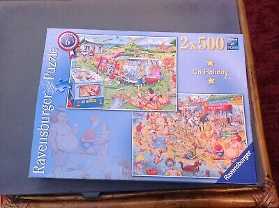 Ravensburger 2x500 piece jigsaw puzzles. On holiday. Complete.