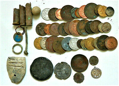 Metal Detecting Finds , Huge Lot Of Coins And More Some Silver