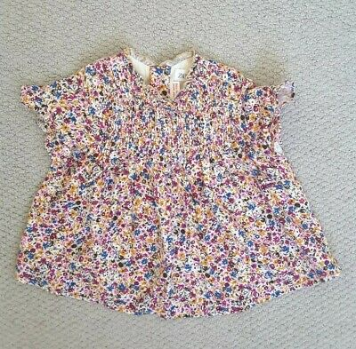 Baby Girl 9-12 Month Top Floral Blouse Zara Baby Purple Floral