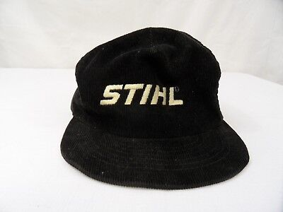 size 40 66580 33926 Stihl ChainSaw Black Corduroy Hat Cap Vingate Snapback Power Equipment