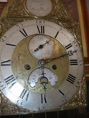Early 19Th Century Oak And Mahogany Brass Arch Dial 8 Day   Longcase Clock