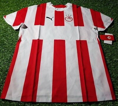 olympiakos olympiacos greece greek football large mans bnwt new 2006 home shirt
