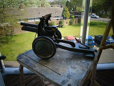 Ww11 Very Rare This Handmade Brass & Steel Field Gun 15 In Long Moving Parts