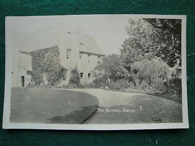 Postcard Real Photo Vintage 1920/30's The Rectory, Top Street, Elston, Notts