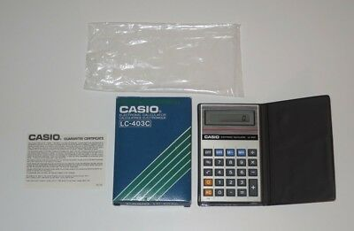 Vintage Casio LC-403C Electronic Calculator Boxed EXCELLENT 1985 80s Retro 1980s