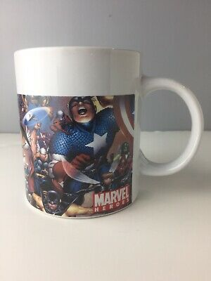 Collectibles Marvel Heroes Coffee Mug 2006 Sherwood Comic Captain America Superheroes