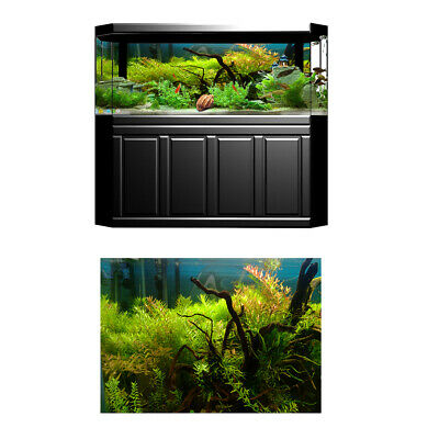 3D HD Photo-Background Aquarium Decoration Fish Tank Poster, 61x41cm, Grass