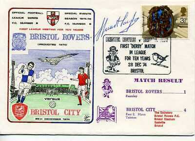 Dawn Football Cover S0408 1974 BRISTOL ROVERS SIGNED STUART TAYLOR