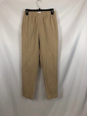 Drapers And Damons Womens Size M Beige Crinkle Elastic Waist Band Casual Pants
