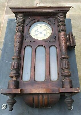 Antique Vienna Wall Clock For Spare Parts Or Restoration.