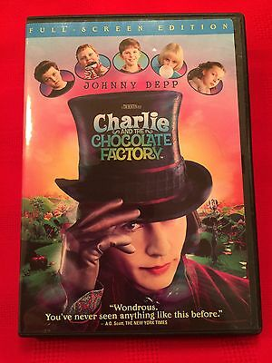 Charlie and the Chocolate Factory DVD 2005 Full Frame