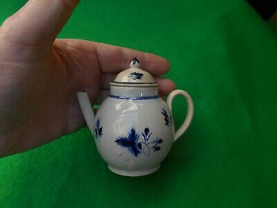 18thC antique blue & white miniature tea-pot   Chinese influence