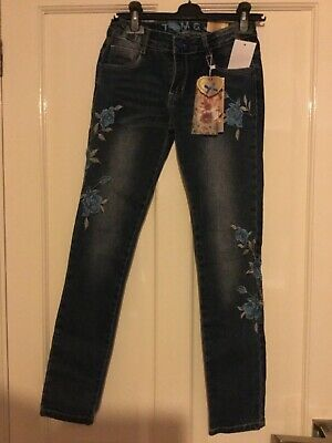 Girls Tom & Jo Embroidered Jeans size 12 years