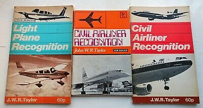 1970s Aircraft Recognition Books - Ian Allan Airliners and Light Aircraft