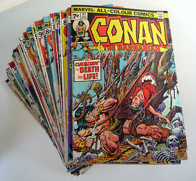 40 x CONAN THE BARBARIAN COMICS 41 to 80 MARVEL 1974 to 1977 Please read listing