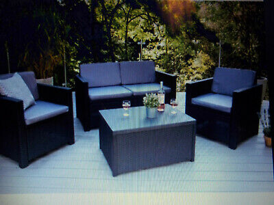 Kettler Seat + Back Cushions Removable Cover Garden Furniture Cream  New