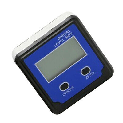 Digital Box Gauge Angle Protractor Level Inclinometer Magnetic 0 - 360° Blue