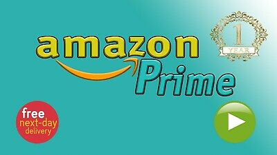 Amazon Prime - One Year - Next Day Delivery - Prime Video - Twitch Prime, etc.