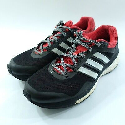 39c7466c9 Adidas Glide Boost Continental Supernova Running Trainers Shoes Size 9 Black
